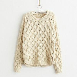 Round neck long-sleeved sweater AD1..