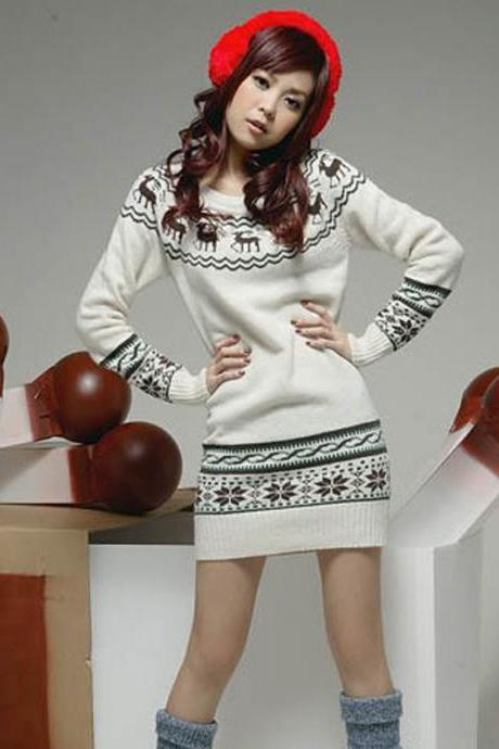 RETRO PACKAGE HIP LOOSE BIG YARDS SWEATER