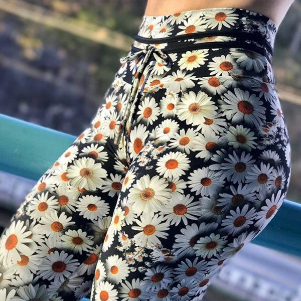 Fashion Stretch Print Sweatpants
