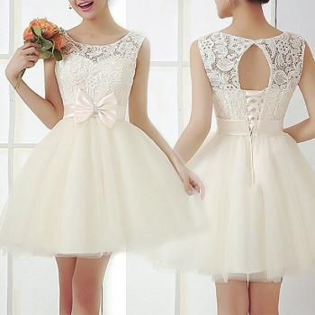 Fashion embroidery crochet lace dress #100514FH