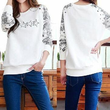 Loose round neck long-sleeved T-shirt DG102409OP